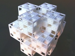 Menger Grid in White Natural Versatile Plastic