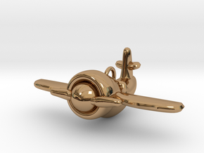 Plane in Polished Brass