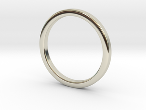 Ring for Cyndi size 7 (2mm wide, 2mm thick) in 14k White Gold