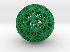 Christmas Ornament 1.03 2x in Green Processed Versatile Plastic