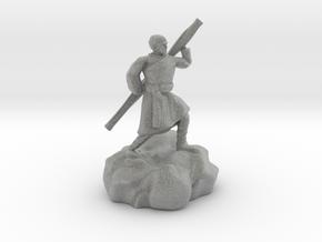 Halfling Ninja With Staff in Metallic Plastic