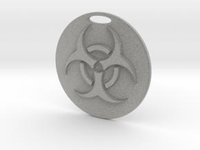 Pendant Bio Hazard Medallion 02 - MCDStudios in Metallic Plastic