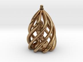 Swirl Ornament in Polished Brass