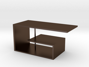 Table No. 9 in Polished Bronze Steel