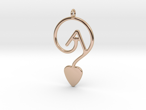 GAY LOVE in 14k Rose Gold Plated Brass
