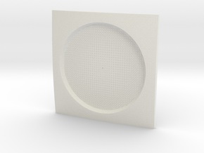 Parametric Coaster in White Natural Versatile Plastic