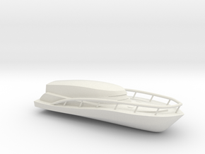 Speed Boat in White Natural Versatile Plastic