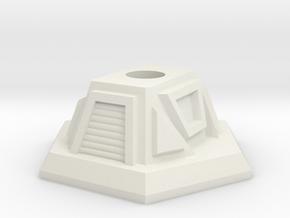 Turret Base in White Natural Versatile Plastic