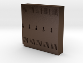 O Scale Lockers in Polished Bronze Steel
