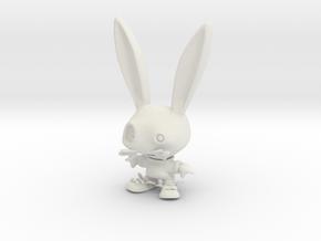Sparky – h14cm x w9cm x d5cm in White Natural Versatile Plastic