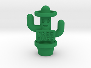 Free Hugs Cactus in Green Processed Versatile Plastic