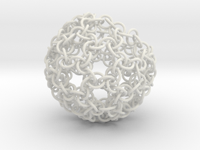 Pouch-ringlets in White Natural Versatile Plastic