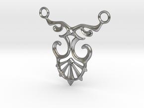 Art Deco Pendant #1 in Natural Silver
