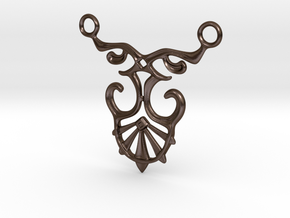 Art Deco Pendant #1 in Polished Bronze Steel