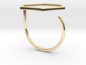 Hexagon ring shape. in 14k Gold Plated Brass