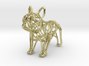 French Bulldog Bottle Opener Keychain in 18k Gold Plated Brass