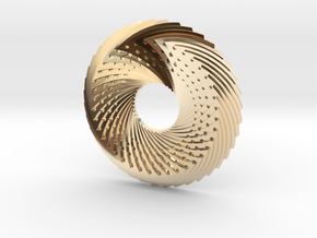 coin in 14k Gold Plated Brass