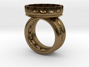 Beer Ring 9.5 in Polished Bronze