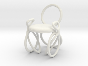 Chair No. 40 in White Natural Versatile Plastic