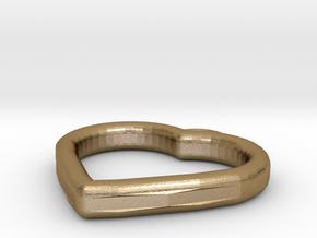 Heart Locket in Polished Gold Steel