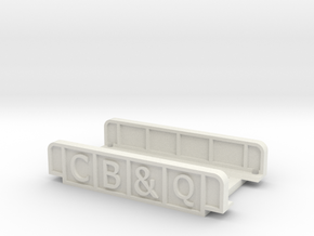 CB&Q N SCALE in White Natural Versatile Plastic