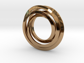 Spiro 3Cm in Polished Brass