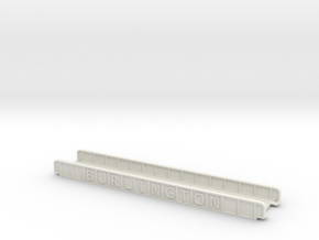 BURLINGTON N SCALE in White Natural Versatile Plastic