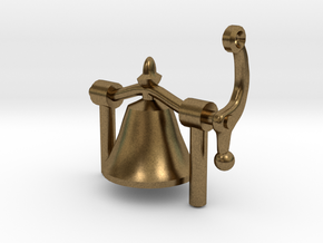 1:20 scale bell stand in Natural Bronze