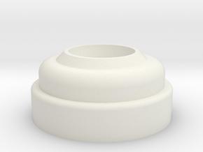 Left Side Hose Connector in White Natural Versatile Plastic