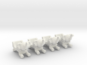 Sellner Larson Elephants in White Natural Versatile Plastic