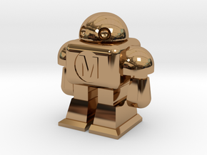 MAKE Robot in Polished Brass