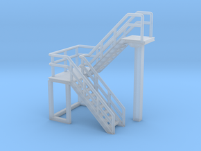 N Scale Staircase H=23.8mm in Smooth Fine Detail Plastic