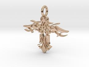 Pendant Tribal Cross Design 02 Model 03 - MCDStudi in 14k Rose Gold