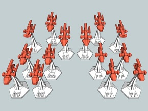 MicroFleet Kzouti Fast Attack Group (14 Pcs) in Frosted Ultra Detail