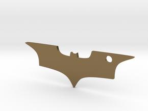 Batman logo keychain in Polished Bronze