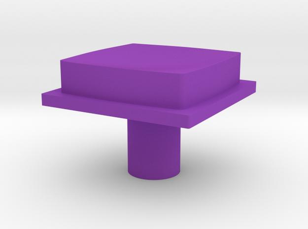 cleanbutton in Purple Processed Versatile Plastic