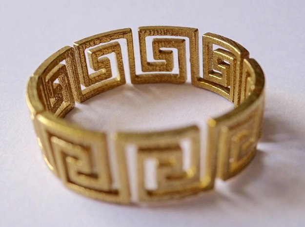 Greek Ring Brass - size 7.25 in Natural Brass