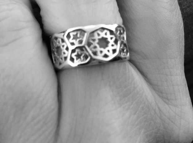 Ring Fatehpur Sikri - size 7.25 in Polished Silver