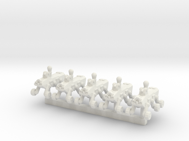 1/200 XAV Robot Scout x5 in White Natural Versatile Plastic