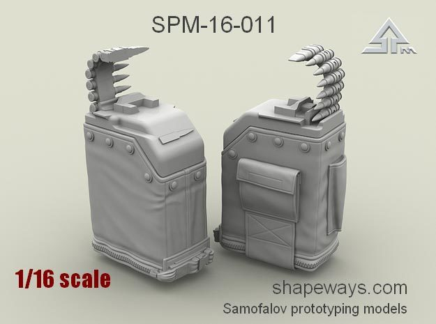 1/16 SPM-16-011 LBT MK48 Box Mag in Frosted Extreme Detail
