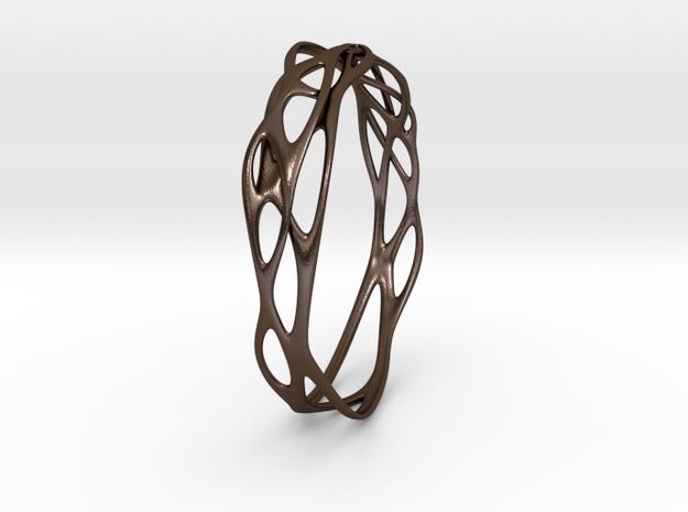Incredible Minimalist Bracelet #coolest (S) in Polished Bronze Steel