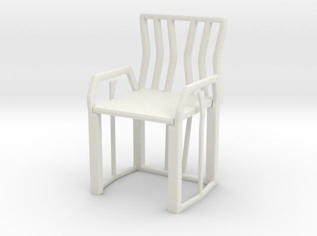 Chair No. 41 in White Natural Versatile Plastic