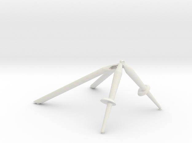 +Z,-Z & -Y Landing Gear Outrigger in White Natural Versatile Plastic