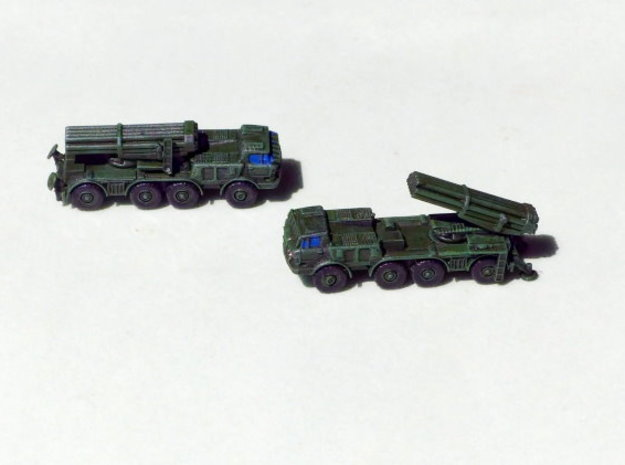 BM 27 Uragan MRLS 1/285 6mm in Smooth Fine Detail Plastic