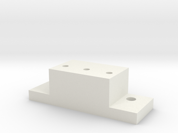 Lionel & MTH O Scale ALCo PA-1 Coupler Mount in White Natural Versatile Plastic