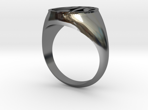 Misfit Ring Size 10 in Fine Detail Polished Silver