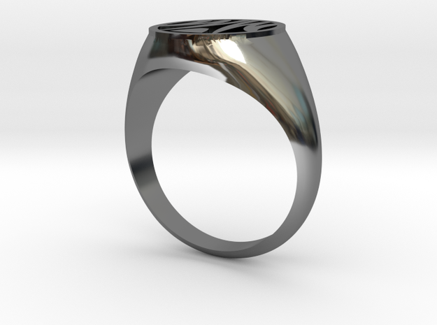 Misfit Ring Size 11.5 in Fine Detail Polished Silver