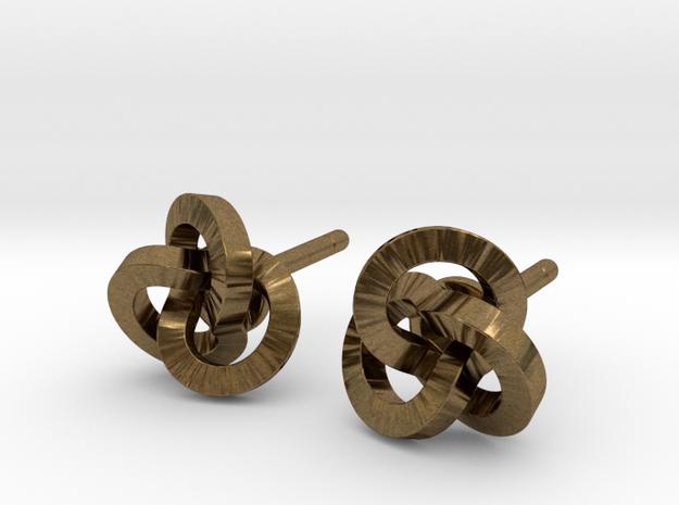 Trefoil Earrings 3d printed