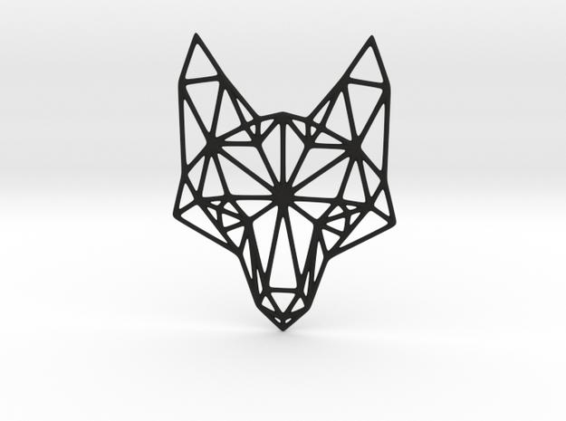 Geometric Fox Head Pendant