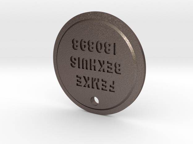 TLOU Pendant - Femke Bekhuis 180898 in Polished Bronzed Silver Steel